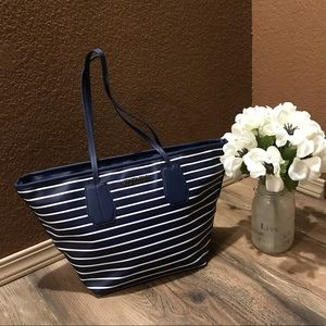 NWOT Kennith Cole Blue & White Striped Tote